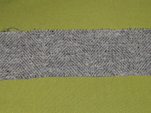 Straight piece of fabric cut on the crossgrain.