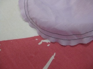 The result is a smooth seam line ready for insertion into armhole.