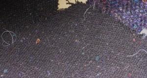 Tailor's tacks mark dots and darts.