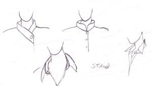Standing collars