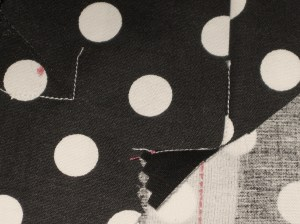 Top left - stay stitched corner Bottom right - clipped and turned seam allowance
