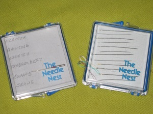Needle storage idea