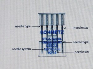 How to read the needle package.