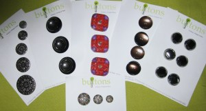 An assortment of my souvenirs from the button shop in Nurses Walk, The Rocks, Sydney.