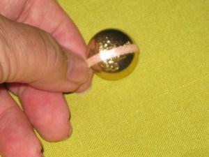 Measuring dome button.