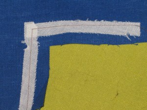 Strips of fusible interfacing will protect the pivot point when it is clipped and prevent the stretching of seams.