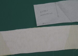 Additional interfacing to support collar if it is to be worn up. Draw position marks on pattern. Cut interfacing and fuse to under collar on top of original interfacing.
