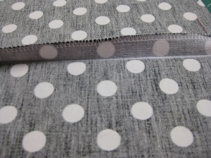 Stabilise seam allowance and finish with overlocker