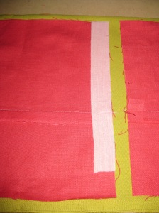 Stabilise seam allowance.