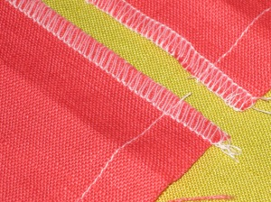 Staystitch to mark seam line and finger press along seam line.