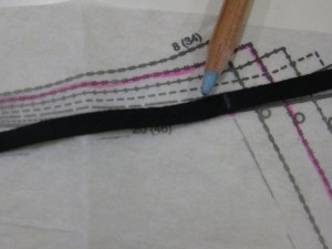 Use waist seam line on the pattern to measure the tape exactly.