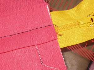 Avoid difficulty sewing around zipper pull if attaching a separate waistband