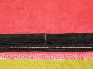 Mark unsewn zipper tape where the seam line sits.
