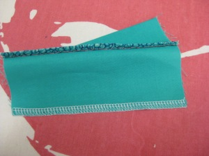 Hem edge finishes - Hong Kong finish, over locking, stitched and pinked - to neaten the cut edge and prevent fraying
