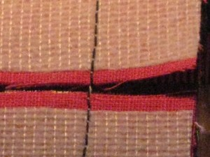 Clip stitching to separate.