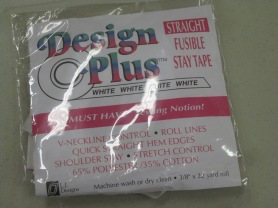 Fusible stay tape