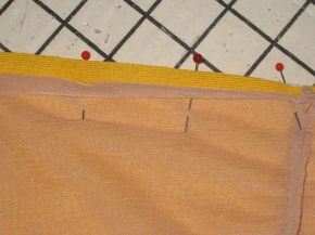 Regular pinning allows seam allowance edges to curl